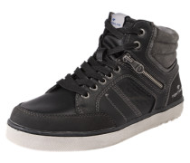 Sneaker mit Ziernähten schwarz