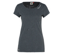 T-Shirt 'Mint Dots' mint / schwarz