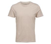 Rundhalsausschnitt- T-Shirt weiß