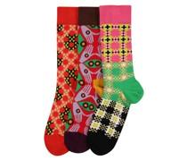 Socken 'Abstract Print' mischfarben