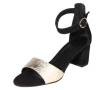 Sandale 'Classy' gold / schwarz