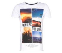 Shirt mit Fotoprint weiß