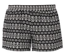 Kurze Shorts mit Jacquard-Muster schwarz / weiß