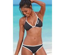 Triangel-Bikini schwarz / weiß
