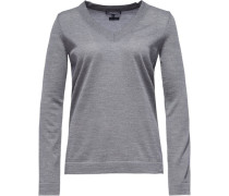 Pullover »Guvera V-Nk Swtr« grau