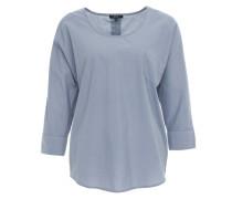 Materialmix-Bluse 'Shimi' blau