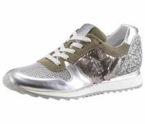 Sneaker grün / silber / weiß
