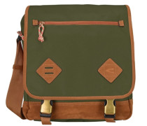 Houston Umhängetasche 32 cm Laptopfach braun / khaki
