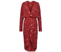 Kleid mit langen Ärmeln rot