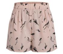 Bedruckte Shorts altrosa / schwarz