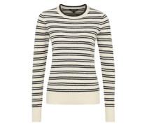 Sehr weicher Pullover schwarz / naturweiß