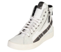 Hightop-Sneaker 'D-velows d-string plus' hellgrau / schwarz / weiß