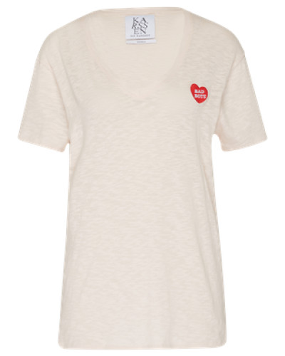 T-Shirt mit Patch 'zk-Pf171022' nude