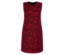 Jacquard-Kleid mit Metallzipper rot