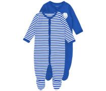 Schlafanzug blau / weiß