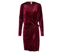 Samtkleid 'Penrose Dress' weinrot