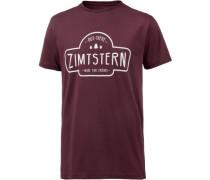 Ruztic Printshirt Herren bordeaux