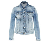 Jeansjacke in Used-Waschung blue denim