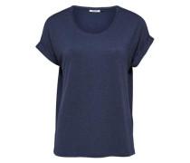 Lässiges T-Shirt navy