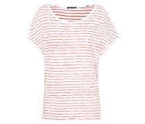 Gestreiftes T-Shirt rot / weiß