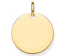 Kettenanhänger 'Coin Lbpe0016-413-12' gold