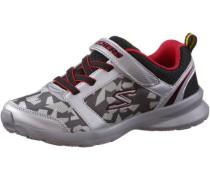 Sneaker dunkelgrau / hellrot / silber