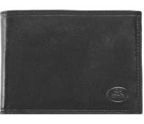 Uomo Geldbörse Leder 13cm schwarz