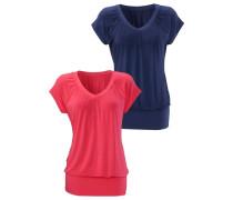 Shirt (2 Stück) blau / rot