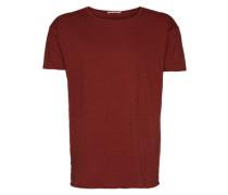 T-Shirt 'Roger Slub' rot / weinrot