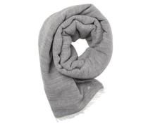 Schal mit Wollanteil grau