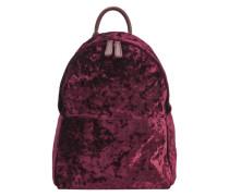 Rucksack aus Samt burgunder