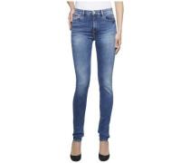 Jeans 'high Rise Skinny Santana Rybst' royalblau