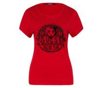 T-Shirt 'tiger' rot / schwarz