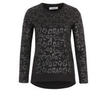 Sweatshirt mit Print schwarz