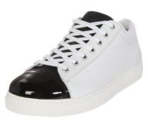 Sneaker Low weiß / schwarz