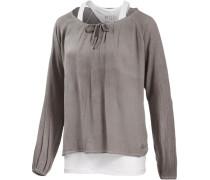 2-in-1 Langarmshirt Damen grau