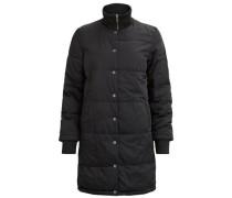 Lange Jacke 'objfiluca Long Jacket' schwarz