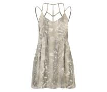 Kurzes Sommerkleid 'New Palm' hellbraun / weiß
