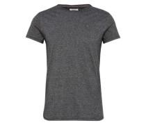 T-Shirt in Melange-Design schwarz