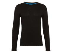 Pullover mit Rollsäumen schwarz