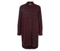 Kariertes Kleid rot / schwarz