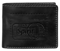 Detroit Geldbörse Leder 13 cm schwarz