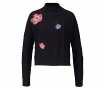 Strickpullover hellblau / rosa / schwarz
