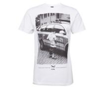 T-Shirt 'Pissizei' weiß