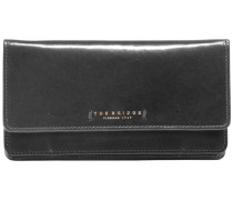 Passpartout Donna Geldbörse Leder 18 cm schwarz