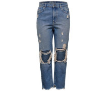 Dagny High Straight Fit Jeans blue denim