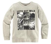 Sweatshirt mit grossem Fotodruck grau