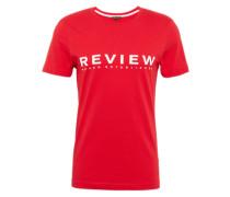 T-Shirt ' Tee' rot / weiß