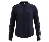 Hemd Spitzendetail nachtblau