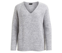 V-Neck Pullover 'Viplace' graumeliert
